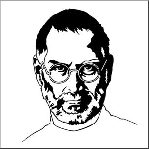 304x304 Clip Art Steve Jobs Bampw I Abcteach