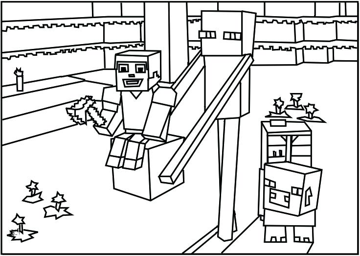 736x523 Minecraft Coloring Pages To Print Printable Page
