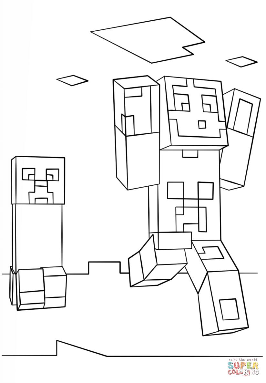 Ziemlich Malvorlagen Von Minecraft Zeitgen Ssisch Malvorlagen Von