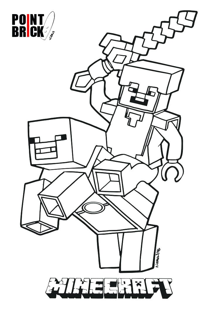 Steve minecraft drawing at free for for Free printable minecraft coloring pages