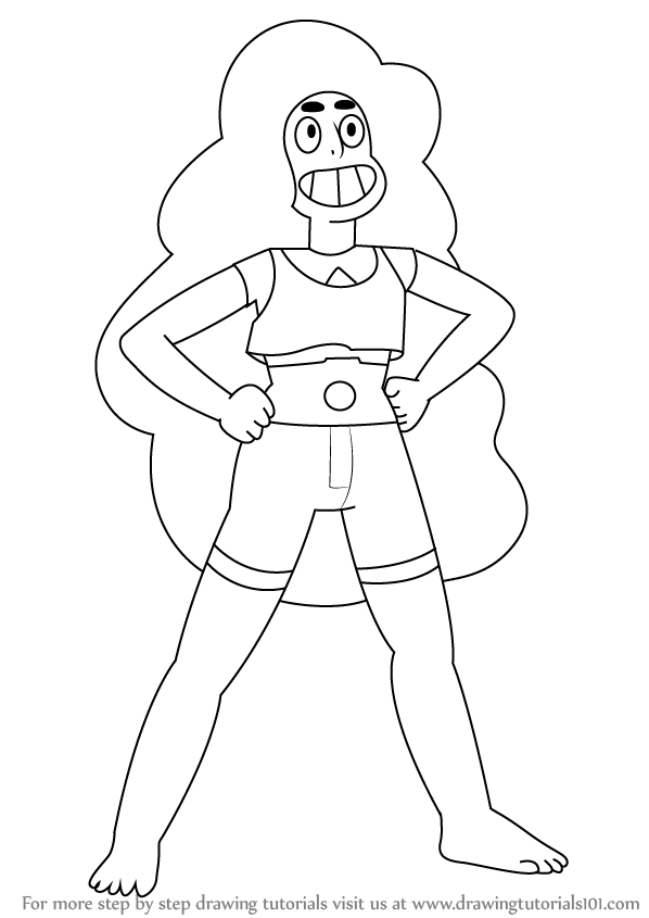598x845 Learn How To Draw Stevonnie From Steven Universe (Steven Universe