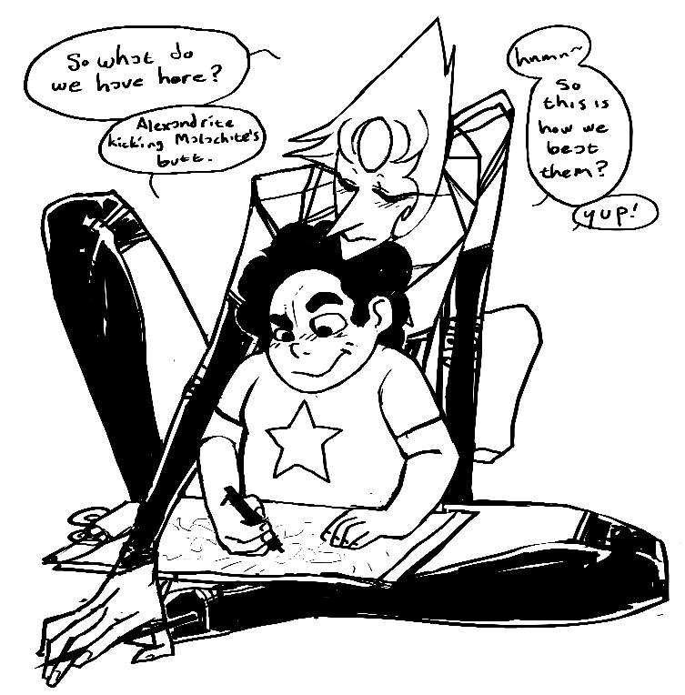 753x764 Ooo11's Pearl Commenting On Steven's Drawing Steven Universe