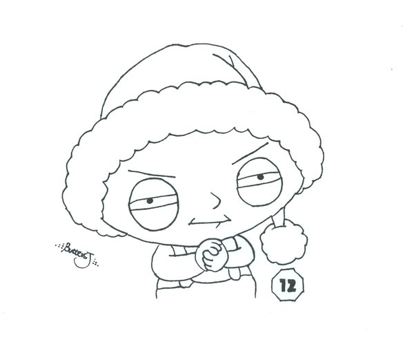 Stewie Drawing
