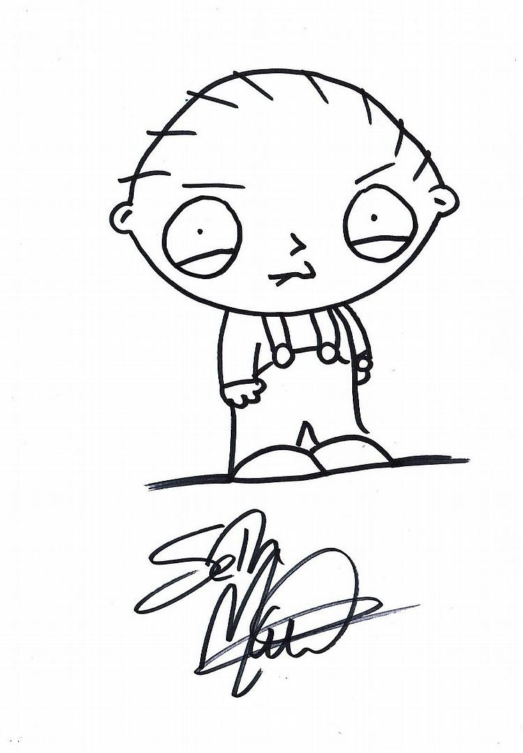 750x1079 Macfarlane Drawing Of Stewie Griffin.