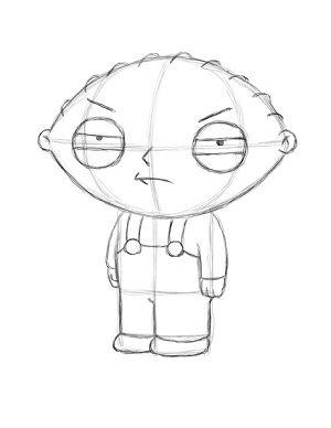 300x388 Draw Stewie Griffin Step 18 Family Guy Stewie