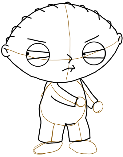 400x509 Drawing Stewie From Family Guy With Toy Gun Lesson