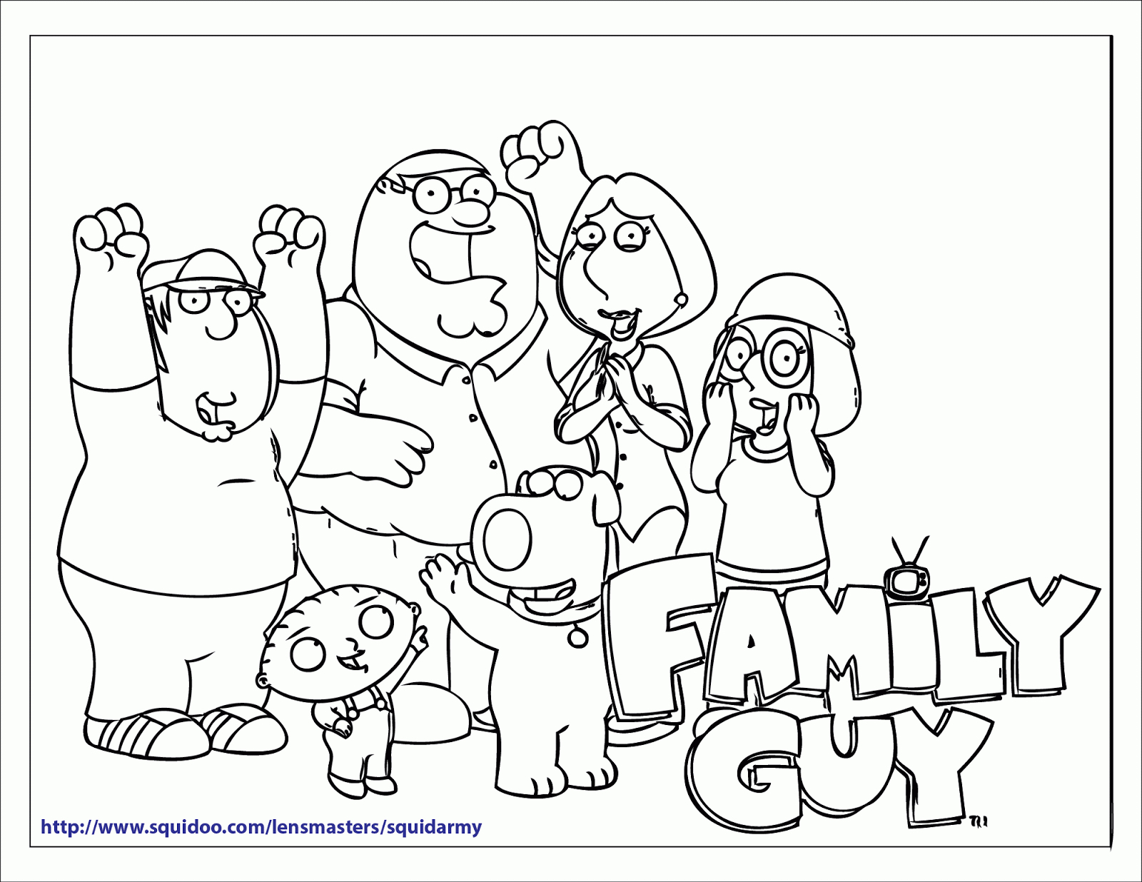 1600x1236 Drawing Of Family Guy