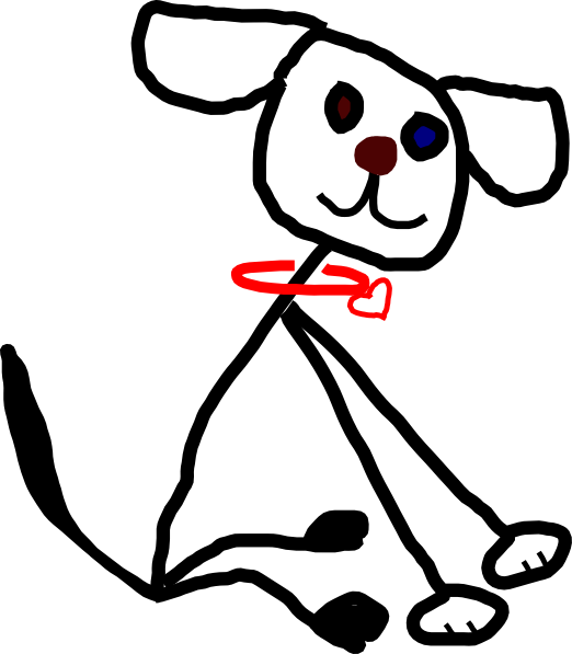 522x597 Stick Figure Kidsdog Clip Art