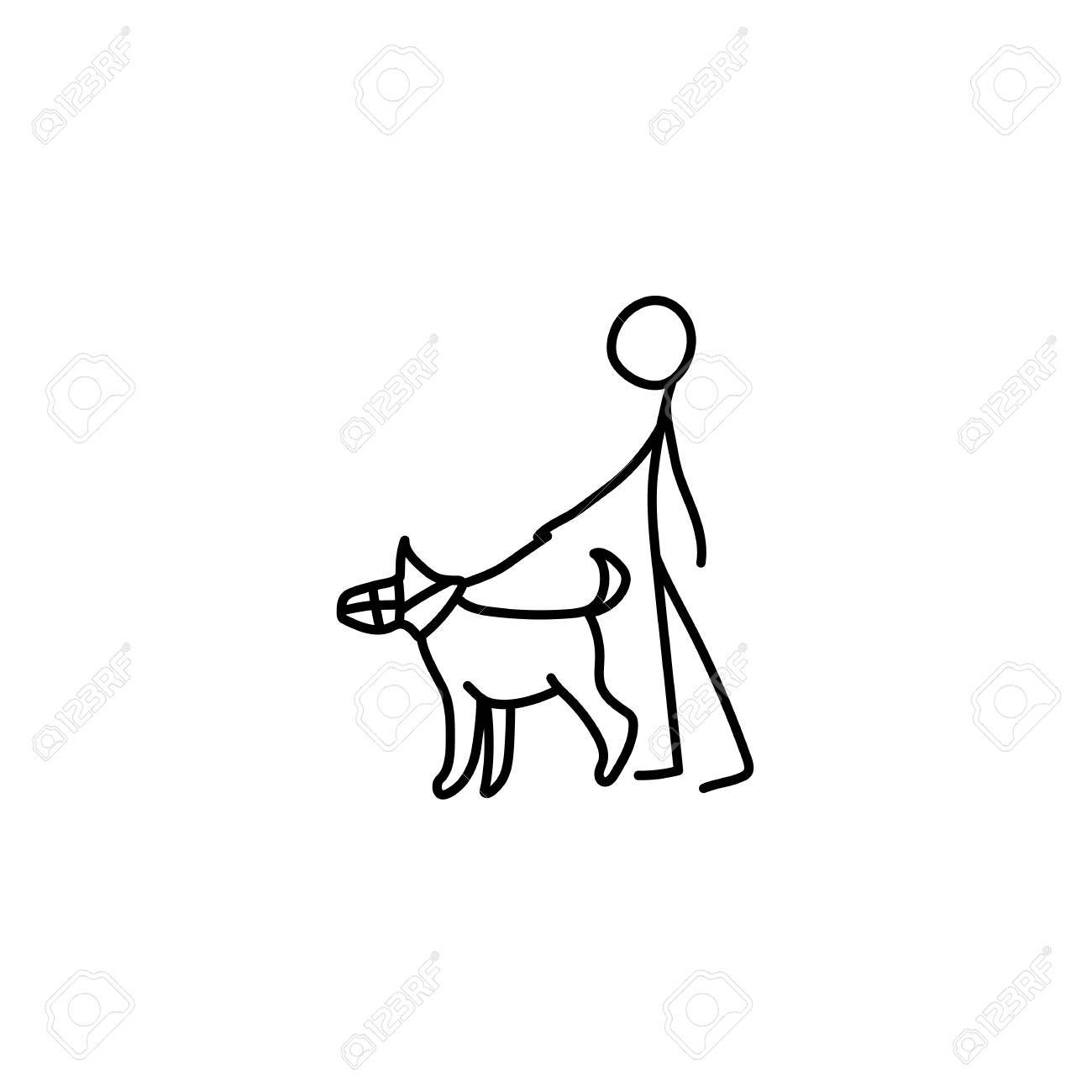 1300x1300 Stick Figure Man Dog Icon Royalty Free Cliparts, Vectors,
