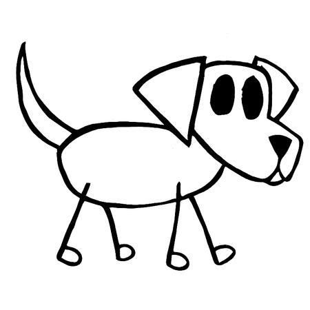 450x450 How To Draw Stick Animals Dog Drawing Graphics Code Dog