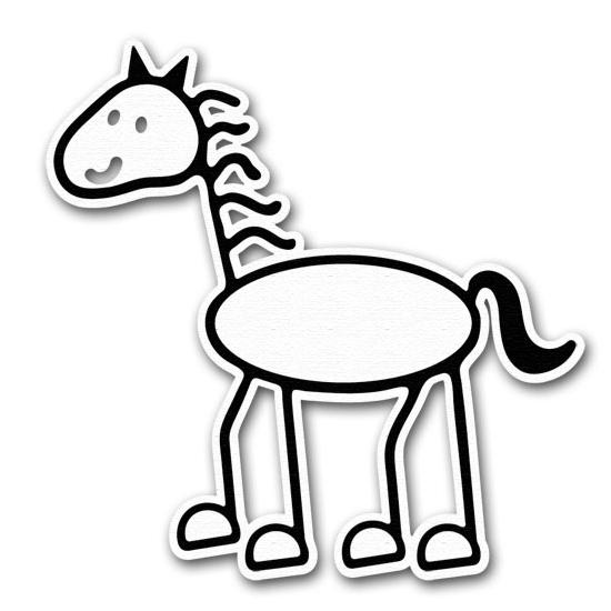 550x550 Stick Figure Horse Group