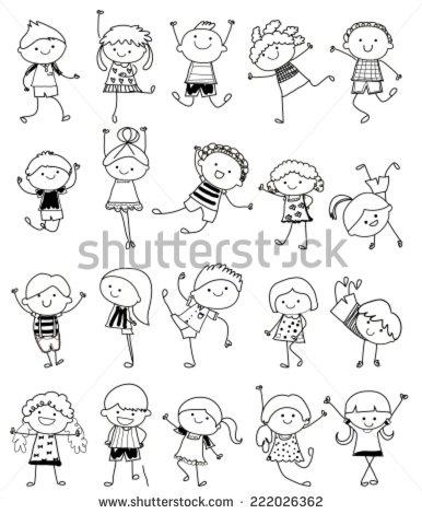 386x470 Group Of Kids,drawing Sketch Drawings Kid Drawings