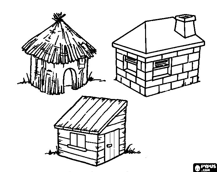 Stick Drawing House