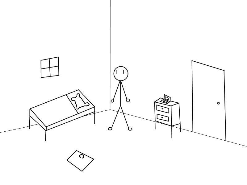 800x600 Stick Figure House Group