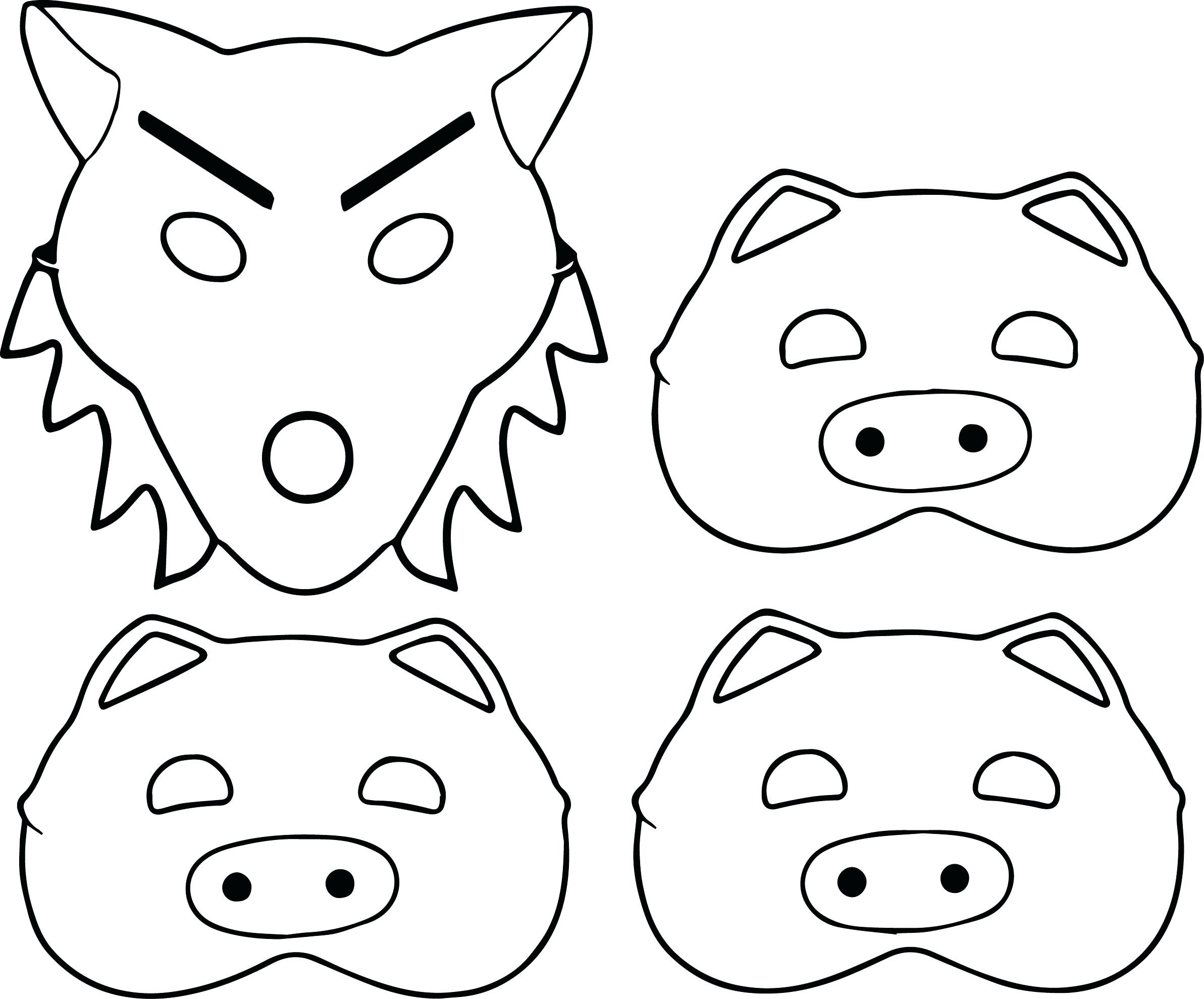 2385x1979 Three Little Pigs Stick House Coloring Pages Free Draw To Color
