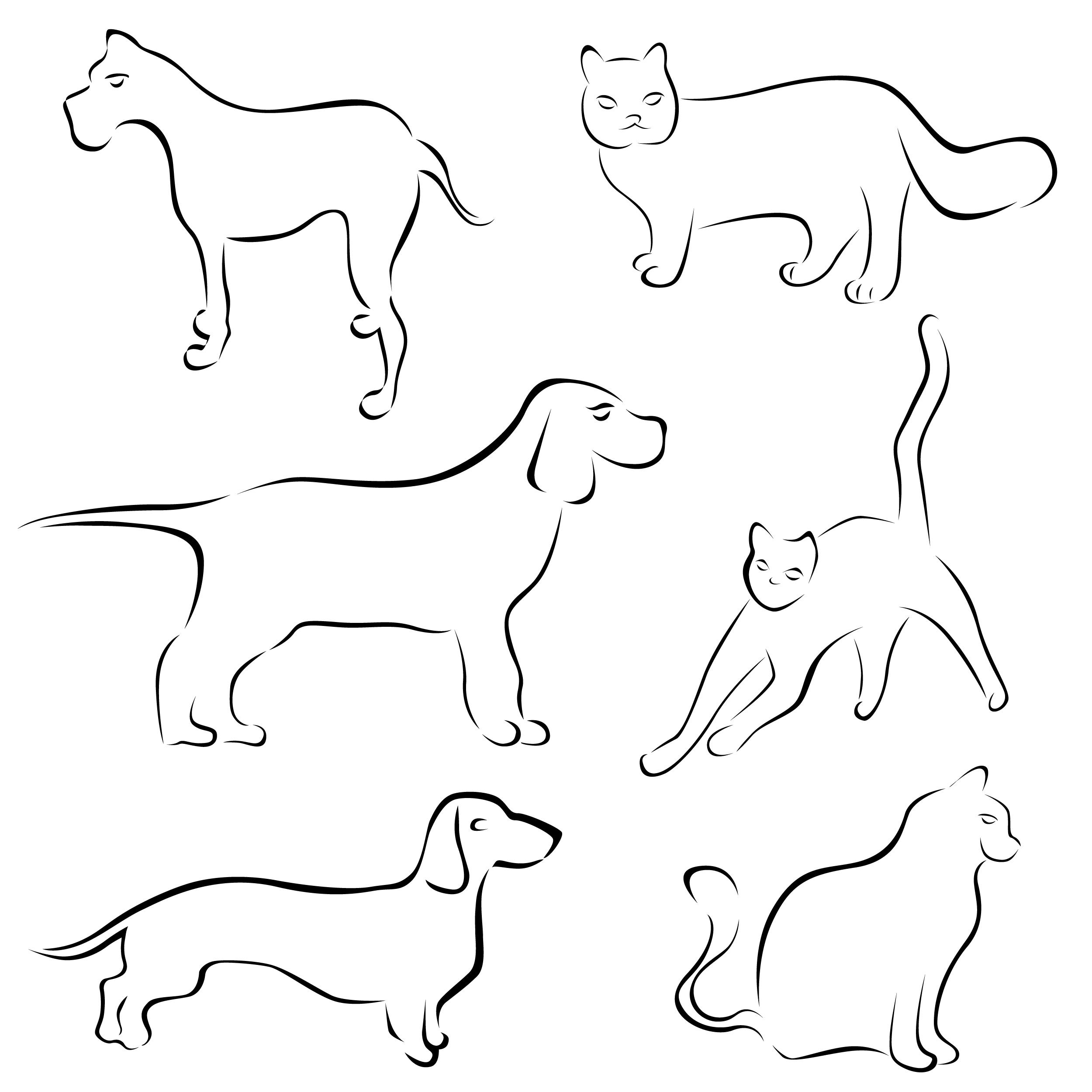 2500x2500 Stick Figure Cartoon Dog Vector Free Vector 4vector