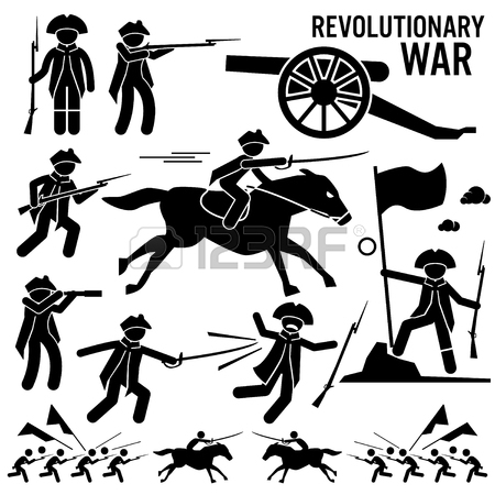450x450 Revolutionary War Soldier Horse Gun Sword Fight Independence