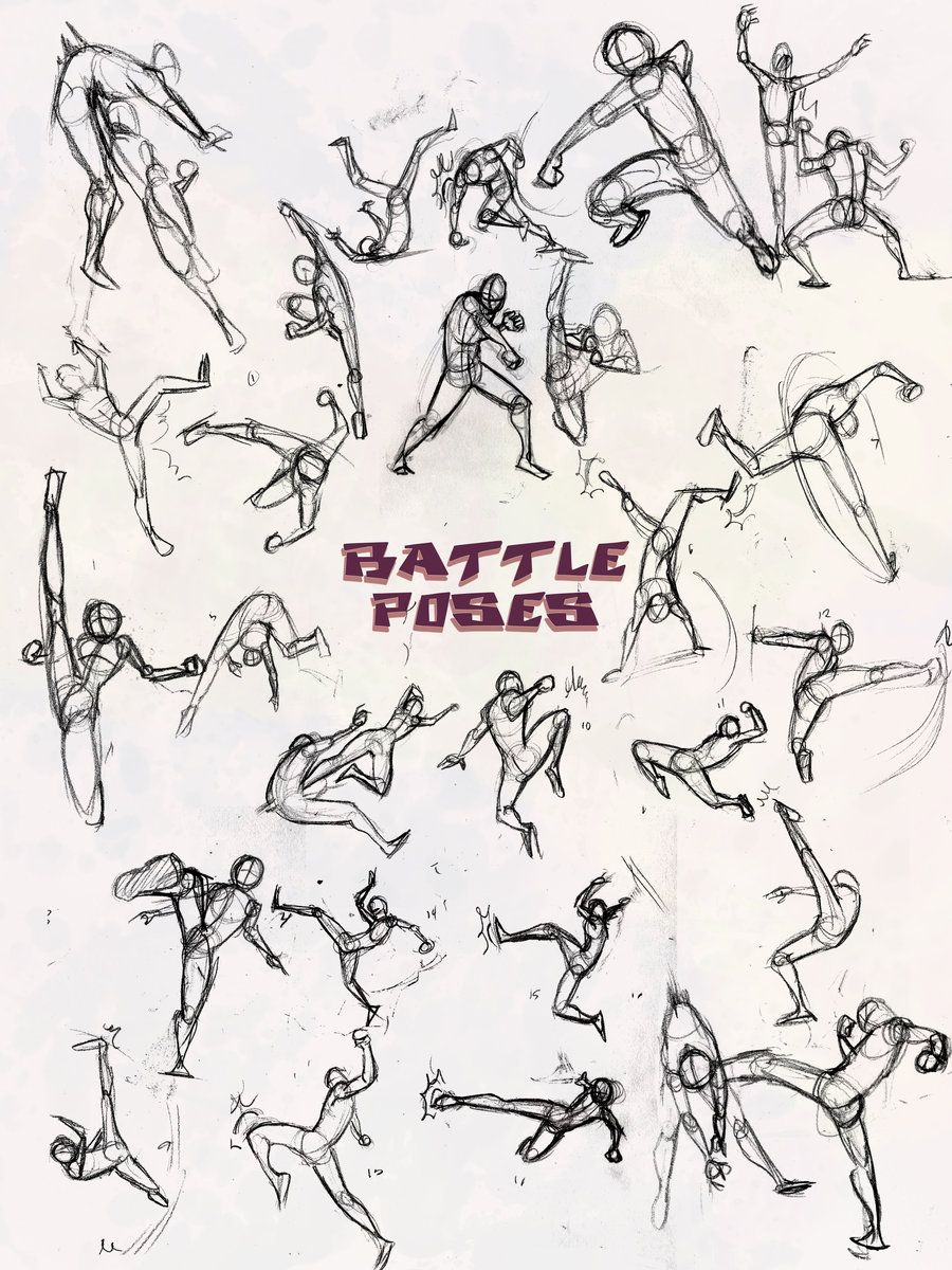 900x1200 Battle Poses Kick And Punch By Nebulainferno