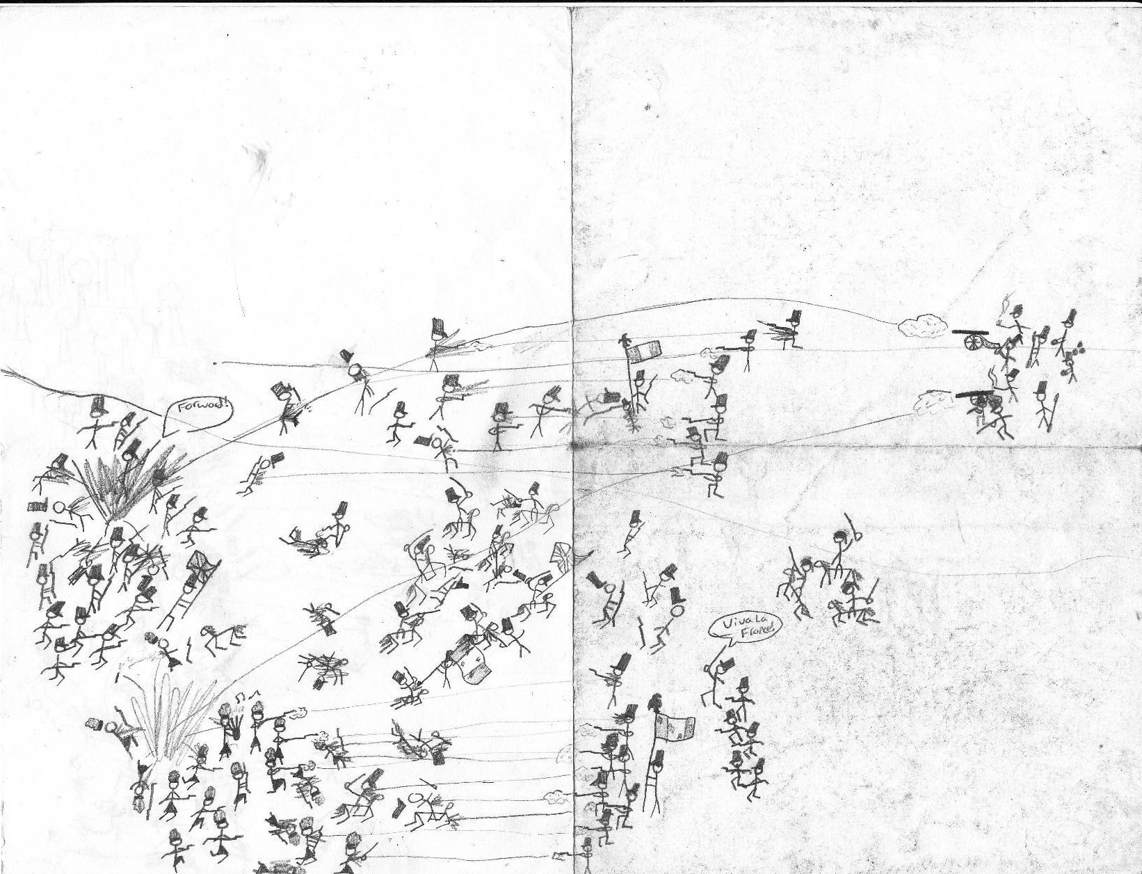 1642x1256 Stickman Army Wars Drawing Stick War Battle