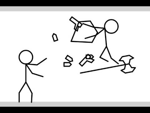 480x360 Battle Axe Vs Pistols (Stick Man Battle)