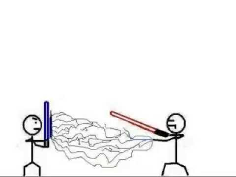 480x360 Stick Figure Lightsaber Battle