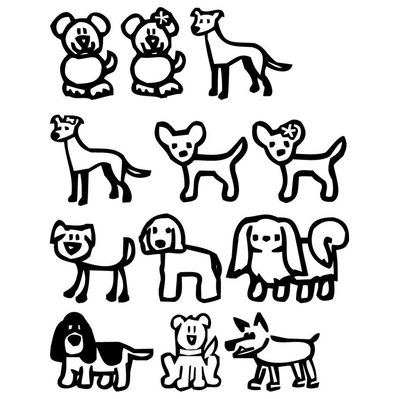 Stick Figure Dog Drawing