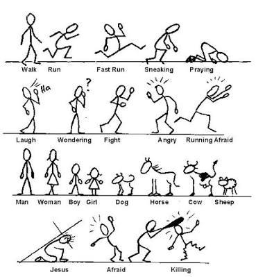 369x399 Resultado De Imagen De How To Draw Stick Figures Still People