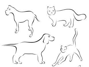 310x233 Stick Figure Cartoon Dog Vector Free Vectors Ui Download