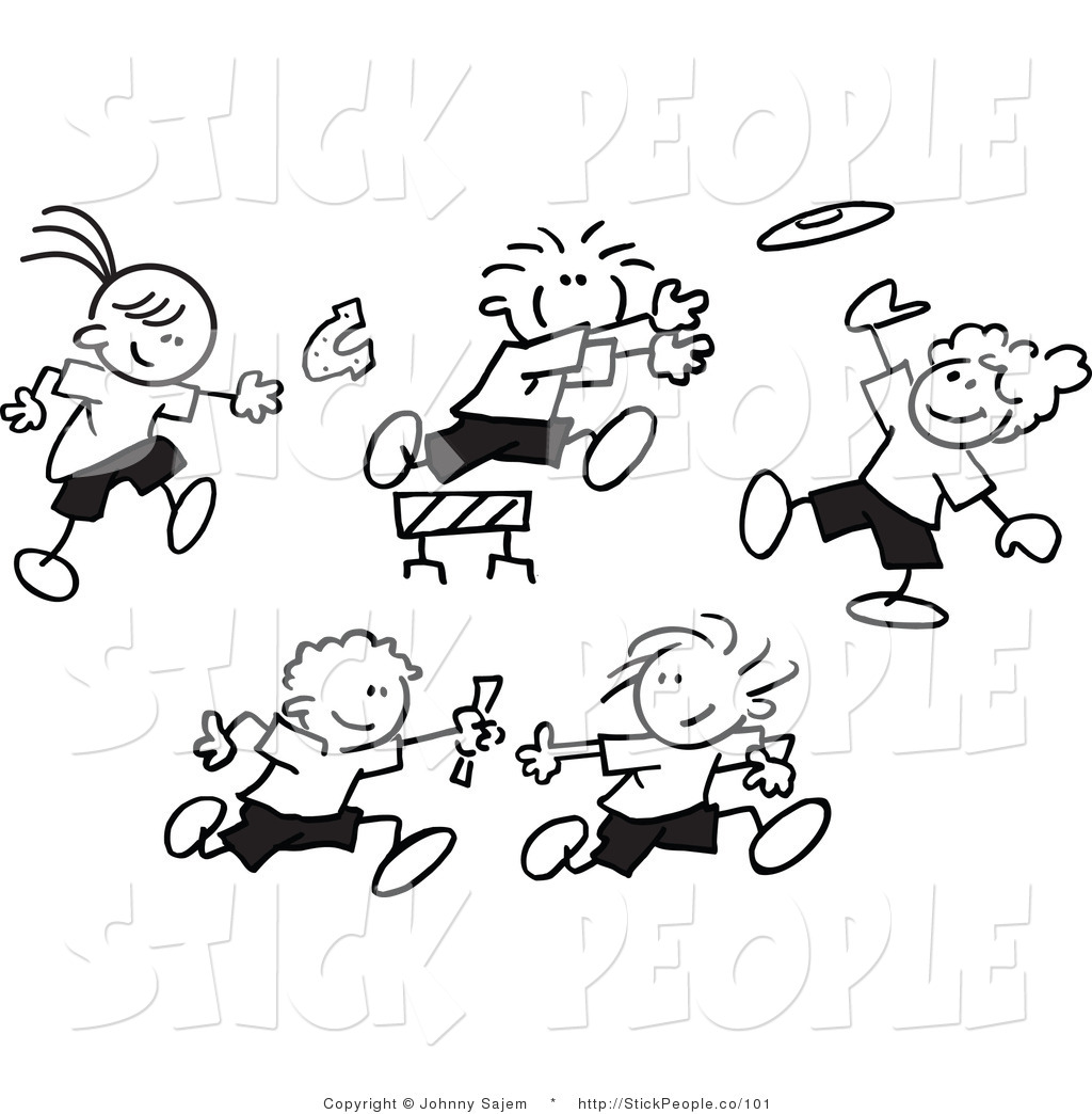 1024x1044 Child Images Clip Art Vector Graphic Of Black And White Stick