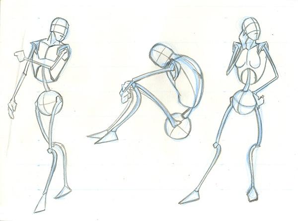 600x445 Skeletal Stick Figures On Scad Portfolios