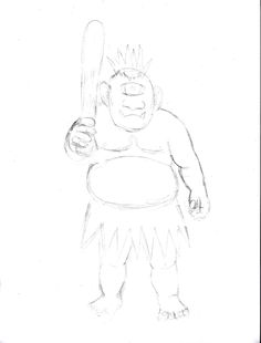 236x310 Cook Sketch To Draw A Cook