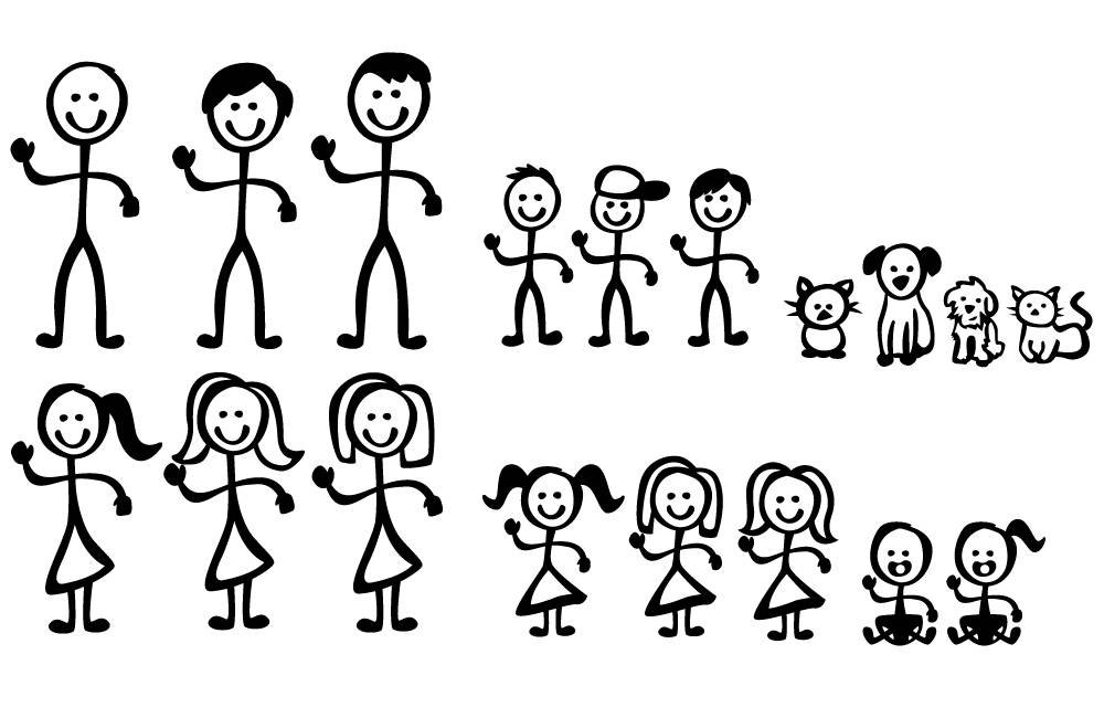 1000x640 Stick Figure Family Etsy Clip Art Stick Figure
