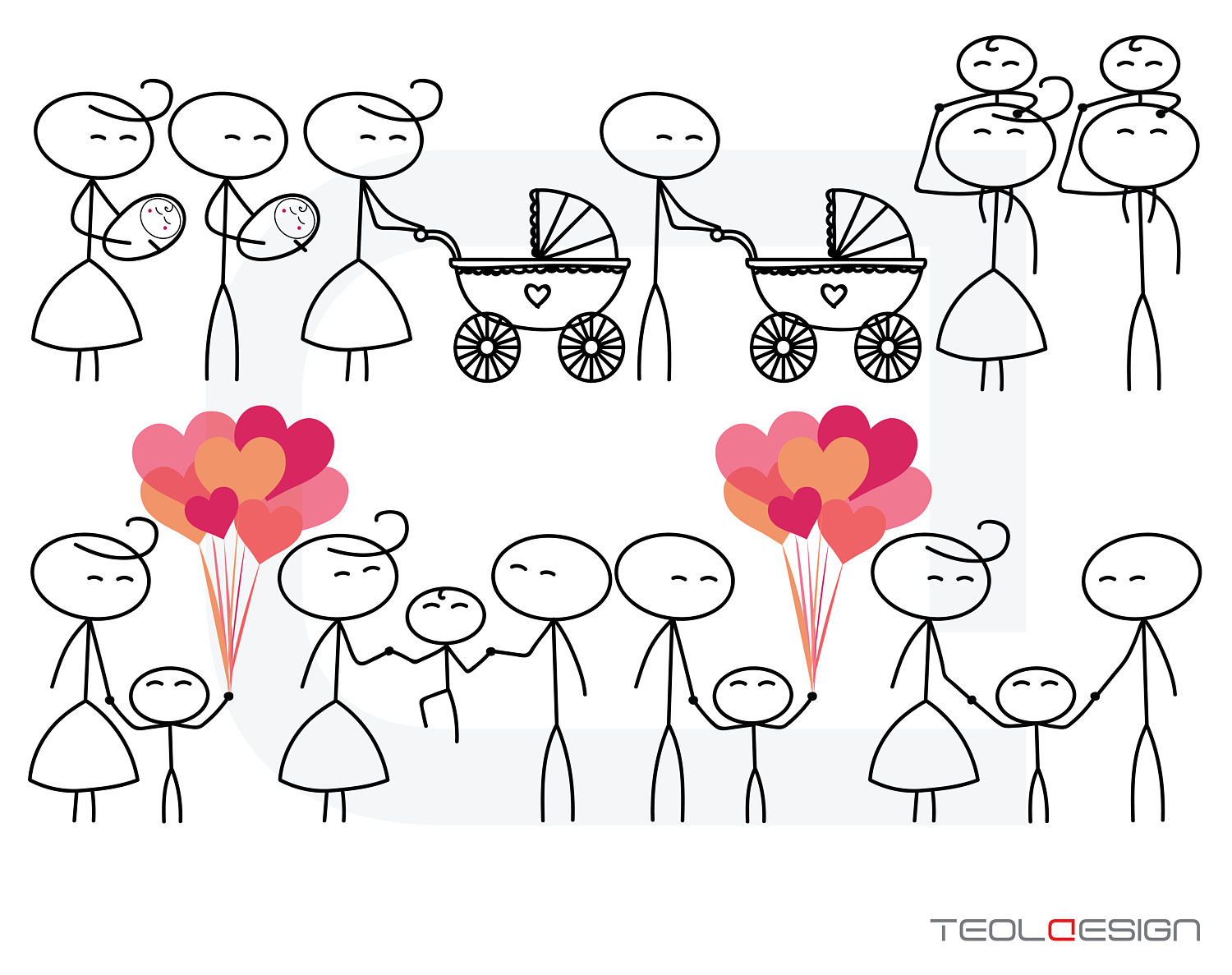 1500x1187 Eps Png Stick Figure Valentine's Day Valentine People Love