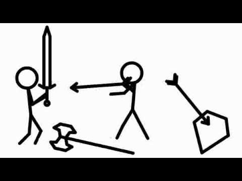 480x360 Fight Animation Stick Figures One Man Army