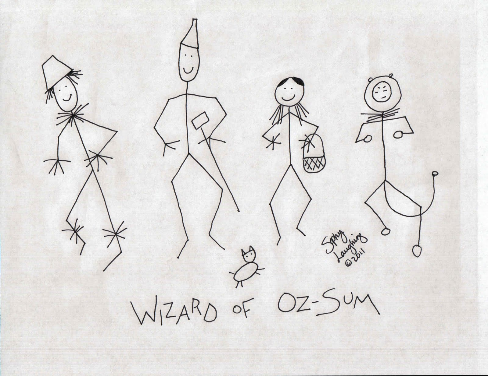 1600x1235 Wizard Of Oz Sum Stick Figures Sophy Laughing Comics