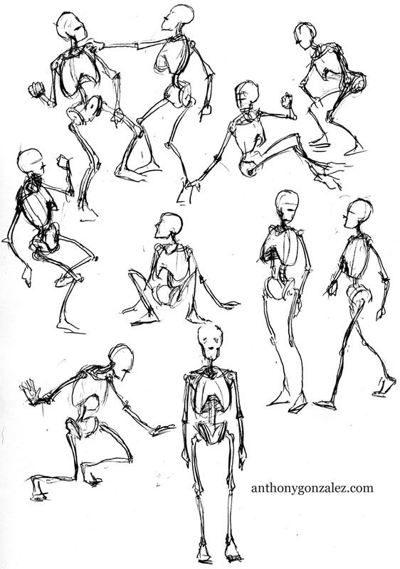 Stick Figures Drawing