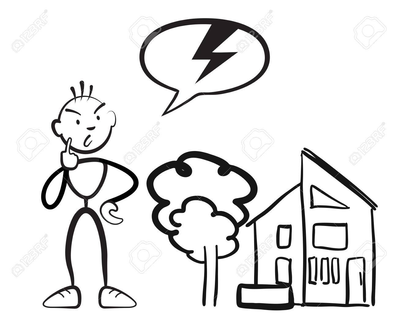 1300x1076 Stick Figure Man Reports Household Damage, Stickman Vector Drawing