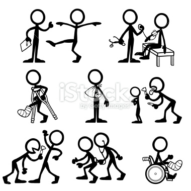 380x380 Stickfigures Undergoing A Medical Checkup And Different Procedures