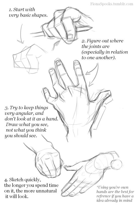 540x810 Drawing Hands Tutorial Tumblr