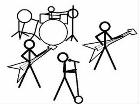 480x360 Stick Figure Band