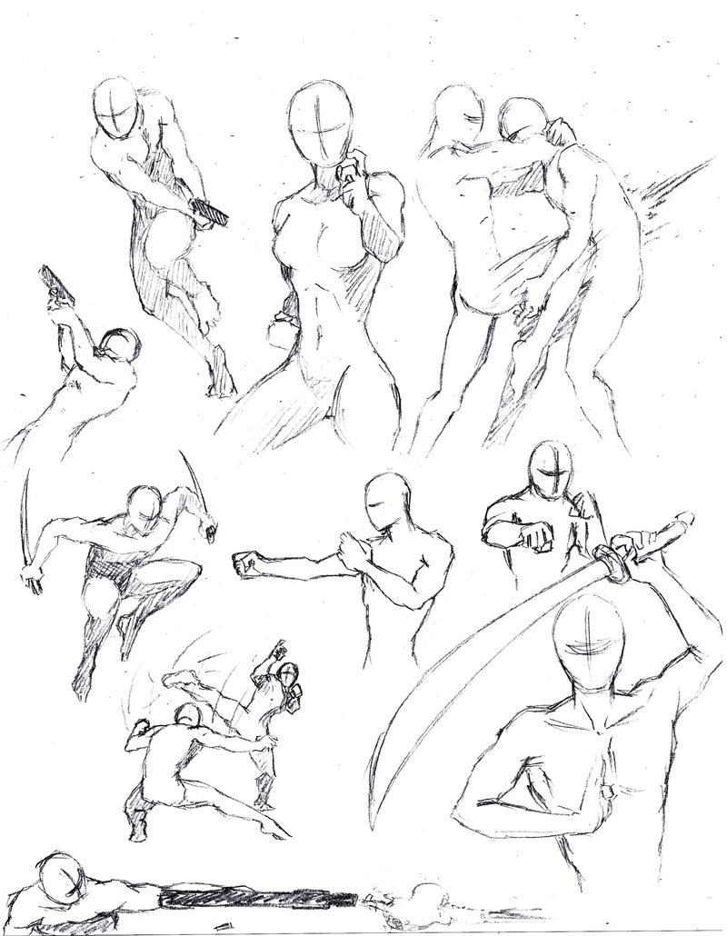 800x1030 Drawing Figures In Action How To Draw The Human Body