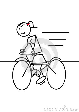 318x450 Drawn Bicycle Stick Figure