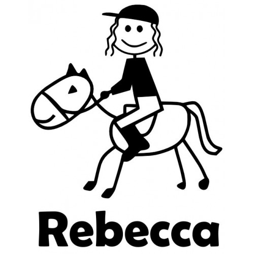 500x500 Personalised Baby On Board Signs Girl On Horse Stick Figure Decal
