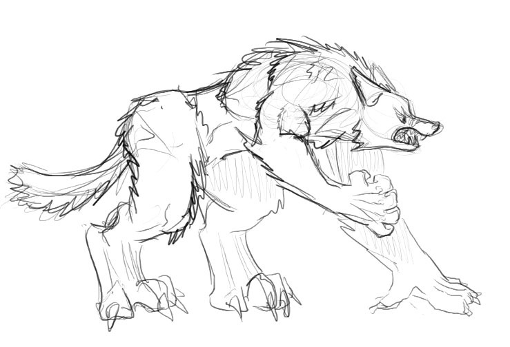 739x504 Gimpystick Image Stickman's Werewolf