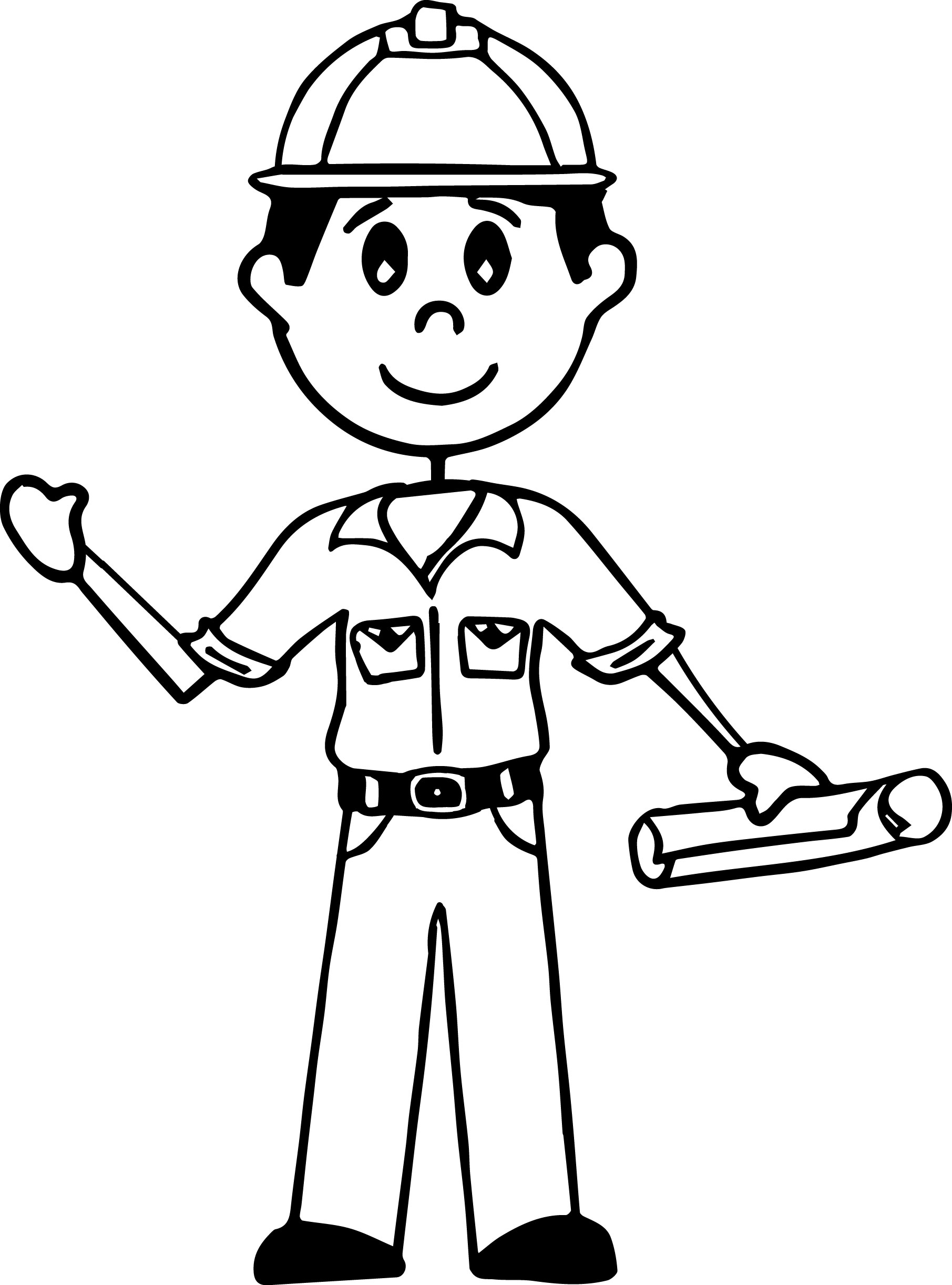 1811x2444 Illustration Of An African American Stick Figure Hard Working Man