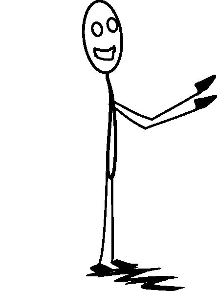444x596 Smiley Stick Man Clip Art