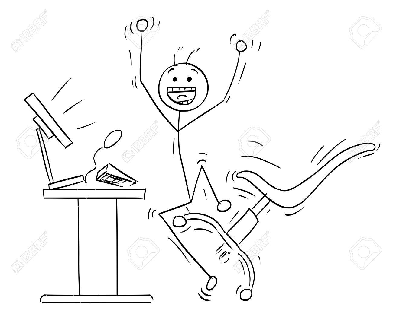 1300x1061 Cartoon Vector Stick Man Stickman Drawing Of Happy Man Jumping