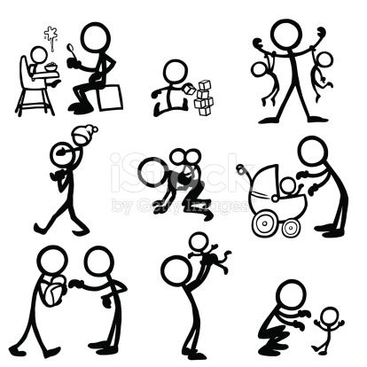 414x414 Stick Figure Babies And Parents Stick Figure, Babies And Cricut