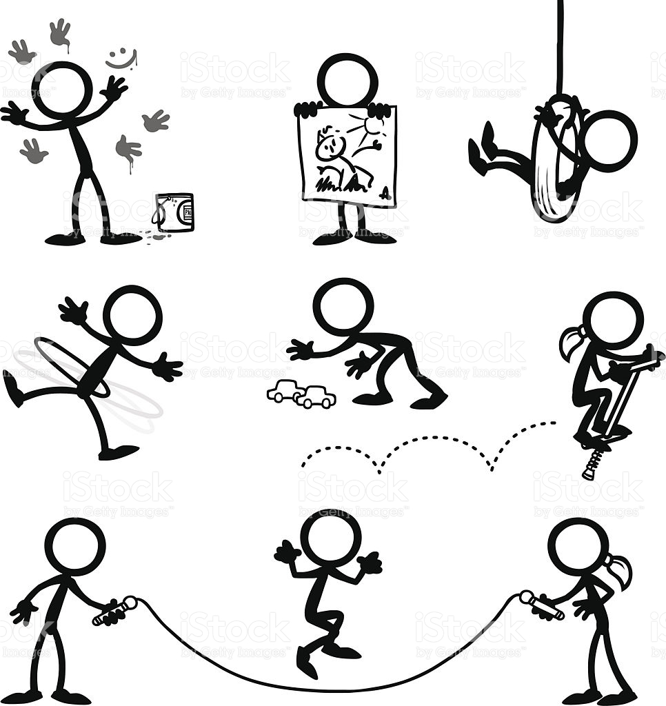 966x1024 Stickfigure Kids Playing Games Outside Stick Figures, Bullet