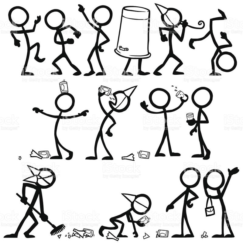 800x800 Drunk Stick Figure Clip Art
